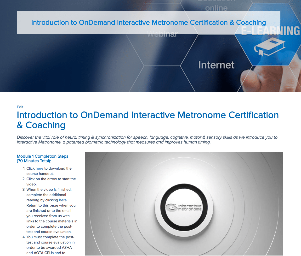 Become Im Certified Today Interactive Metronome